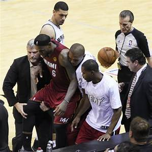 LeBron James feels the heat over Game 1 cramps