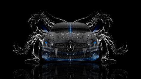 mercedes benz coupe front water car  el tony