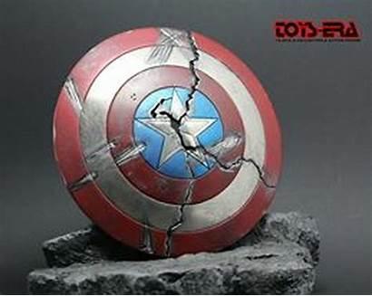 Shield Cracked Captain America Tns Era Stone