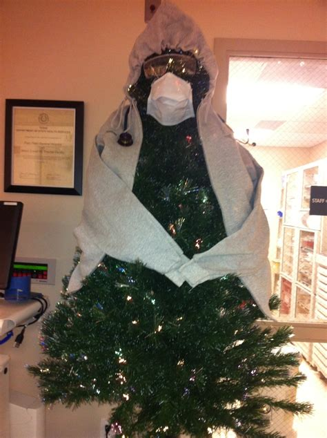 emergency room christmas tree office christmas