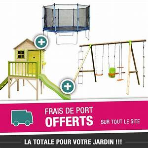 Cabane Toboggan Pas Cher : cabane portique avec toboggan cirque et balancoire ~ Dailycaller-alerts.com Idées de Décoration