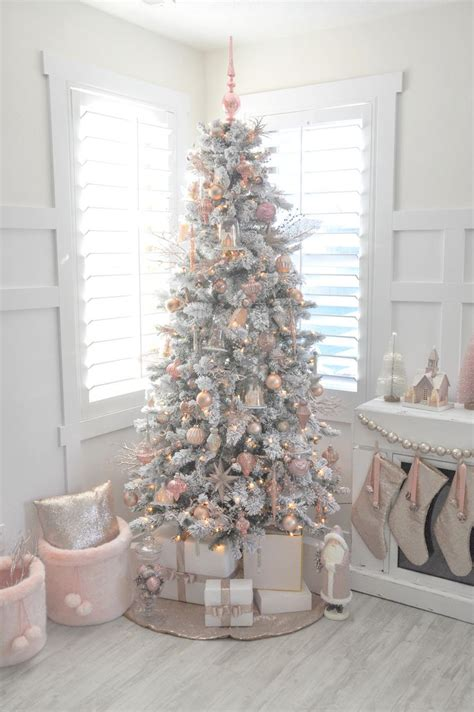 white christmas trees ideas  pinterest white