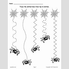 Free Printable Halloween Line Tracing Worksheets! Supplyme