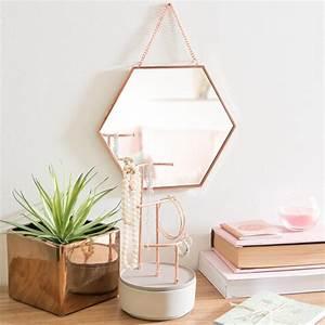 Miroir Cuivre Rose : miroir hexagonal en m tal cuivr 23x23cm greta maisons du monde ~ Melissatoandfro.com Idées de Décoration