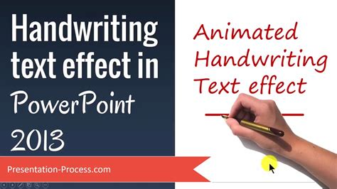 handwriting text effect  powerpoint  youtube