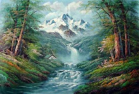 Cheap Vivid Freehand 12 Bob Ross Landscape Painting In Oil