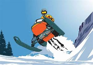 Andar de salto com snowmobile - Download Vetores e ...