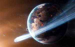 Cosmos space sci-fi planets earth comet asteroid stars ...