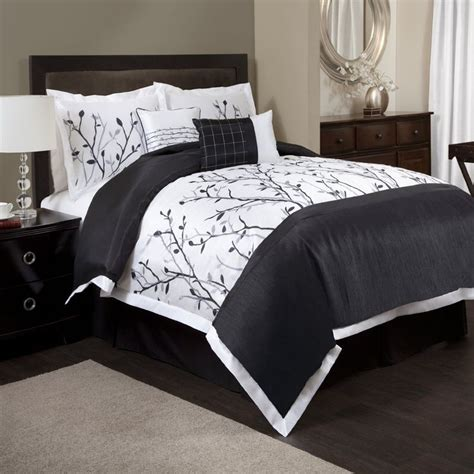 comforter tree branch bedding decor lush king amazon piece embroidered sets california bed cal branches bedroom pintuck 6pc comforters overstock
