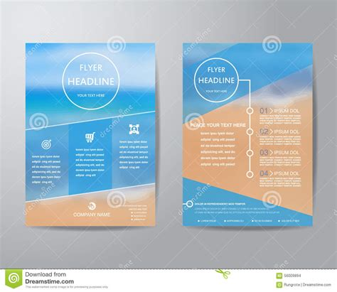 Simple Triangle And Circle Brochure Flyer Design Layout Abstract Triangle Brochure Flyer Design Layout Template In