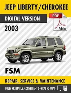 2003 Jeep Liberty    Cherokee Kj Factory Repair Service