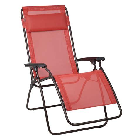 fauteuil relax lafuma rouge aurore transat chilienne