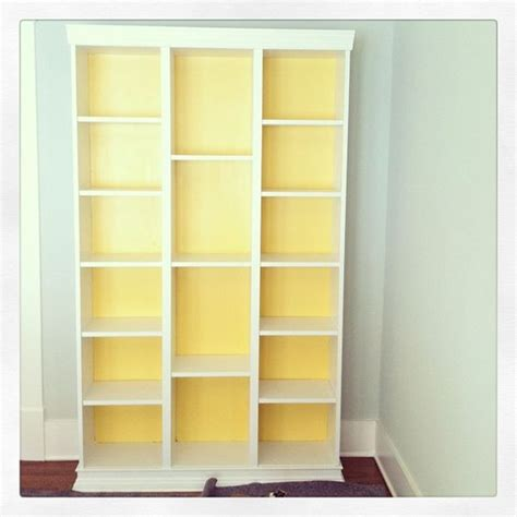 ikea hack three billy bookcases combined ikeahacking