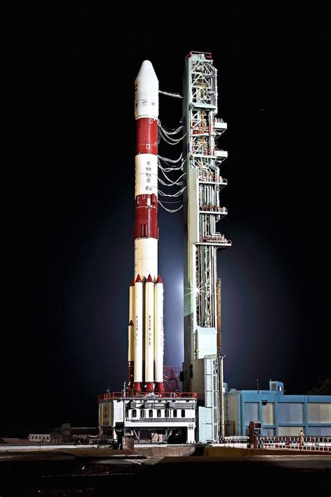 pslv poised  navigation satellite launch