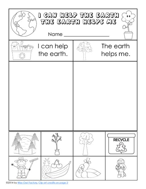 free earth day printable for k 1 slp earth day freebies 174 | 04690958e53e7cf9e90092557c034ef2