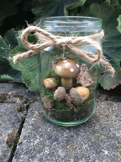 Herbstdekoration Selber Machen by Diy Herbstdeko Wald Im Glas Herbstdekoration Selber