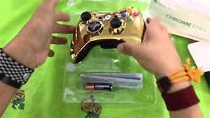 Unboxing Del Control Edicion Dorado Para Xbox 360 En