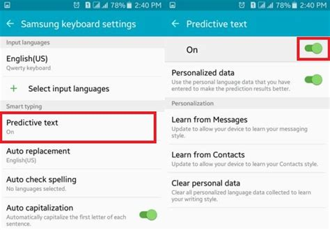how to on android how to turn predictive text on android lollipop kitkat
