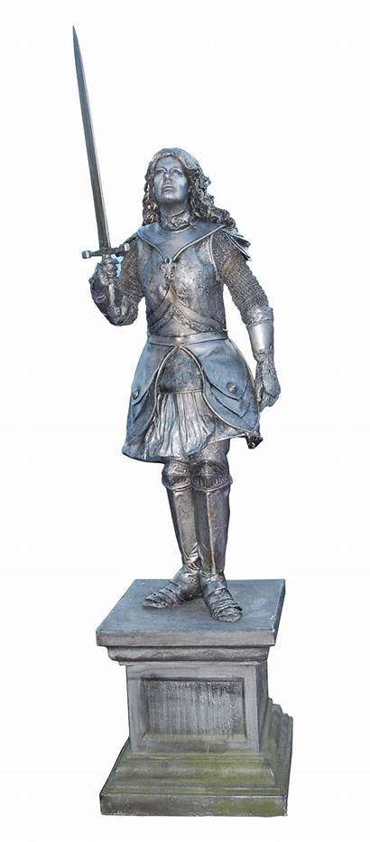 Joan Arc Living Statue Classic Rust Iron