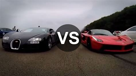 Bugatti Vs Lamborghini Vs Ferrari Drag Race