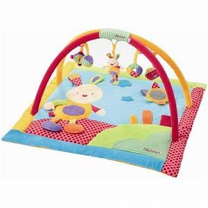 tapis d39eveil lapinou avec portique activite explo achat With tapis d eveil enfant