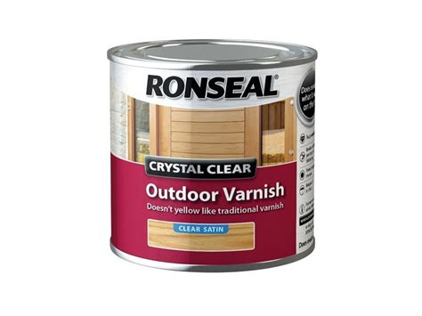 ronseal crystal clear outdoor varnish clear satin ml