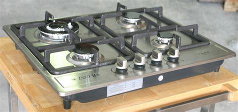 propane gas stove built in counter top 4 burner cooktop