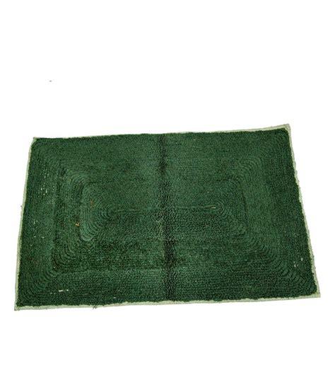 Cotton Door Mat by Ritika Carpets Green Plain Cotton Door Mat Buy Ritika