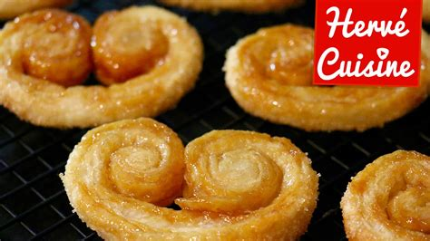 hervé cuisine recette palmiers sucre et caramel facile et rapide