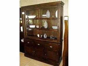 Meuble Avec Vitrine : meuble buffet avec vitrine ~ Teatrodelosmanantiales.com Idées de Décoration