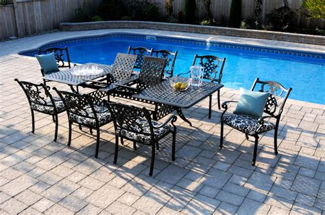 patio dining tables for 6 creating poolside patio dining