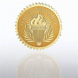 employee recognition certificates certificate seal seal of achievement torch at baudville com