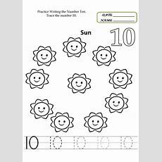 Number 10 Worksheets To Print  Kids Worksheets Printable  Pre K Worksheets, Preschool