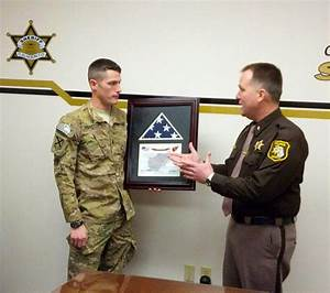 Corrections Officer Presents Flag to Sheriff's Office ...