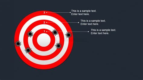 editable bullseye target shapes  powerpoint slidemodel