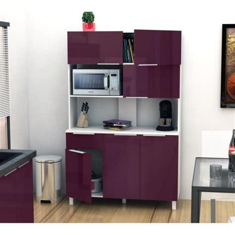 buffets de cuisine lova buffet de cuisine 120 cm aubergine haute brillance