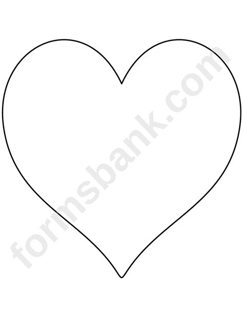 heart pattern template printable