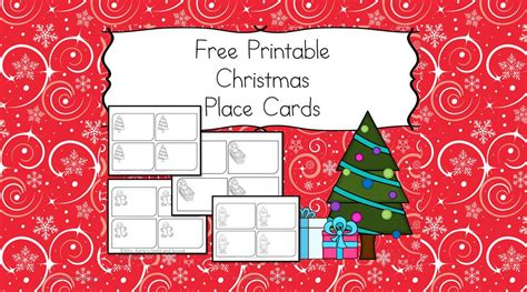 Place Card Templates Freechristmas Template Free Printable Place Cards The Help