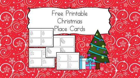 printable christmas place cards   kids