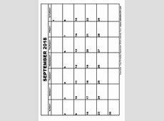 September 2018 Calendar & October 2018 Calendar