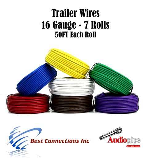 Way Trailer Wire Light Cable For Harness Each Roll