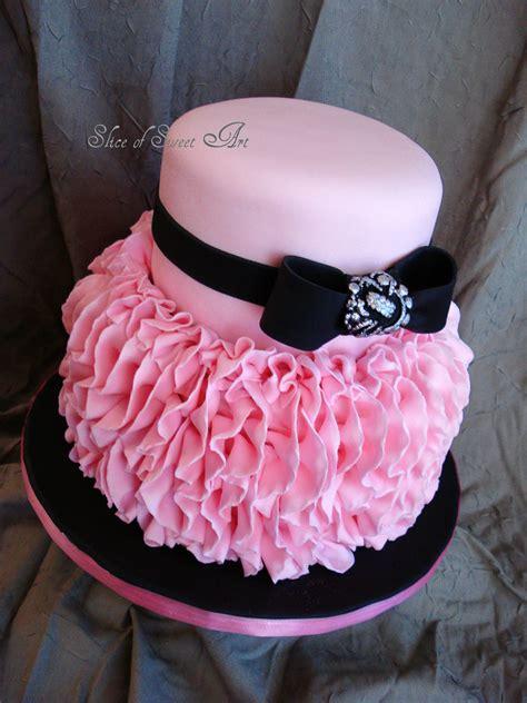 pink ruffle birthday cakecentralcom