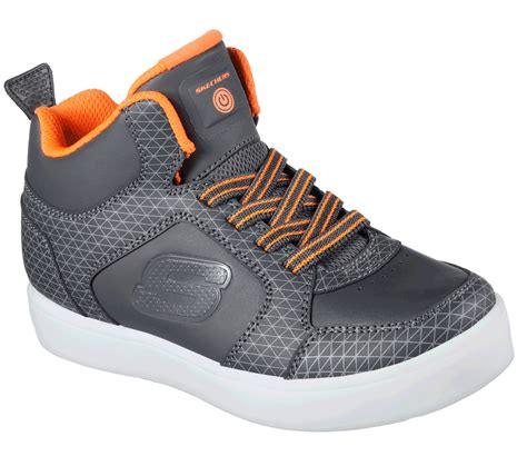 energy light shoes skechers boys skechers energy lights charcoal orange tarvos