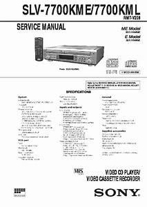 Sony Slv-7700kml Service Manual