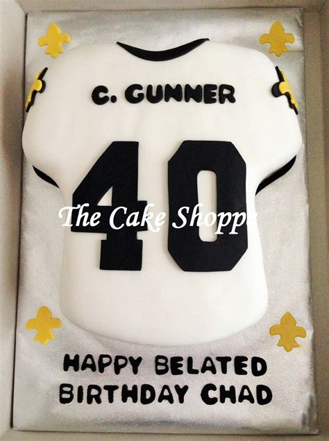 orleans saints jersey cake cakes   cake shoppe