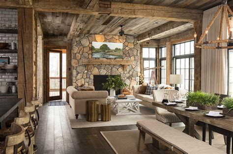 kitchen lighting fixtures island rustic lakeside retreat in wisconsin features inviting