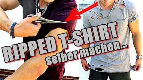 tshirt selber machen der kojote distressed t shirt ripped shirt selber machen