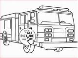 Fire Truck Drawing Line Firetruck Getdrawings Drawings Paintingvalley Printable sketch template