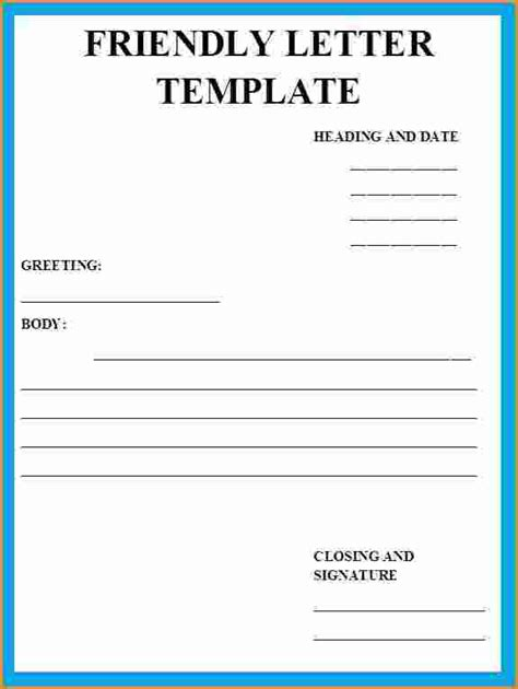 friendly letter template 8 friendly letter example invoice template 21905 | friendly letter example friendly letter format plwaqcrc