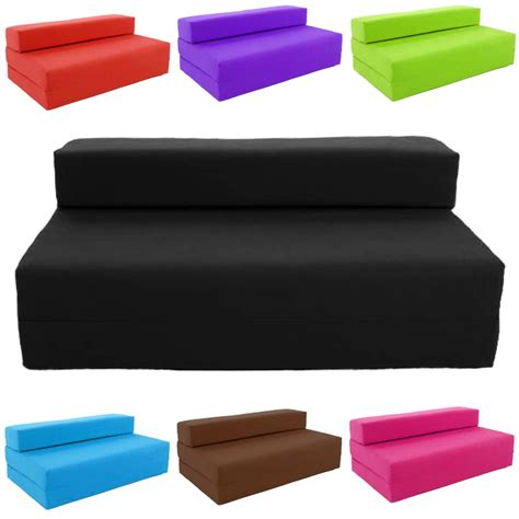 futon canape block filled fold up sofa bed z guest foam futon mattress